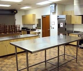 Kitchen adjacent to the Wildcat Mountain Auditorium